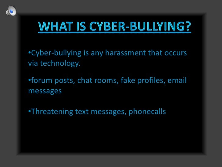 thesis statements on cyber bullying