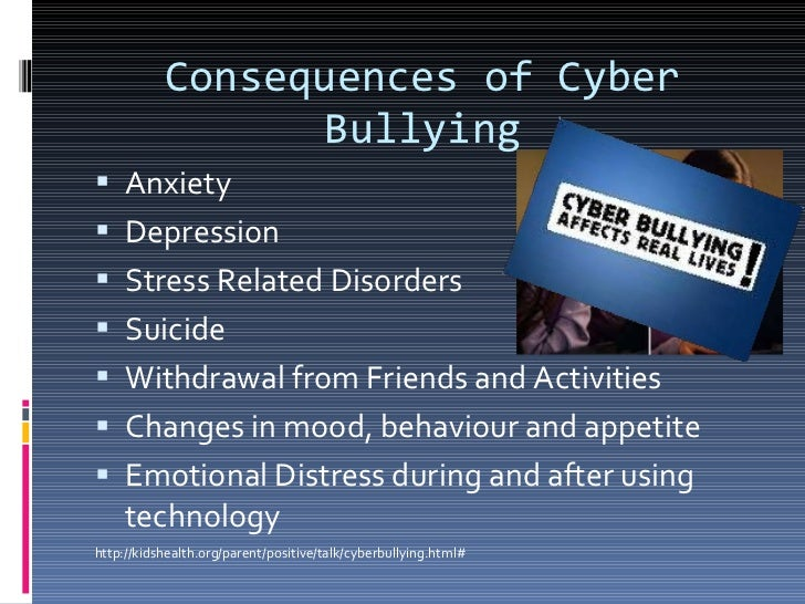 the effects of cyber bullying The impact of cyberbullying and social bullying on optimism, global and school -related happiness and life satisfaction among.