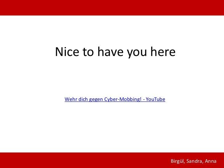 Cyberbullyingpräsentation