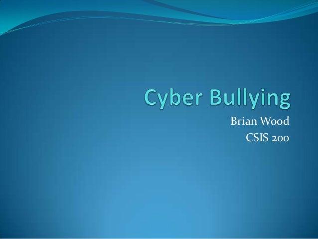 Cyber bullying slide share