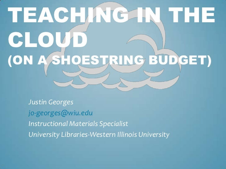 Justin Georges<br />jo-georges@wiu.edu<br />Instructional Materials Specialist <br />University Libraries-Western Illinois...