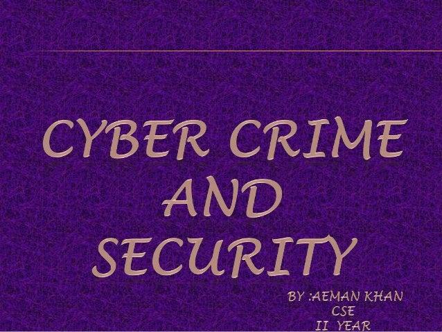Cybercrime Ppt