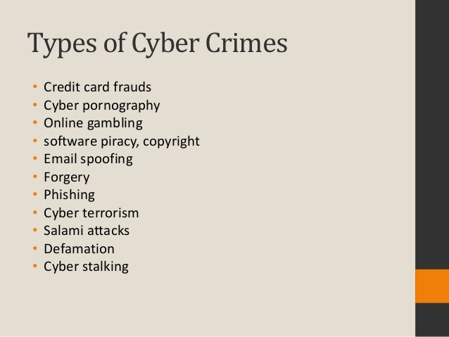 an analysis of the dangers and types of computer crimes and frauds Is regarding computer crime and computer fraud, as well as what is being done by law crime, the different types of computer crime.
