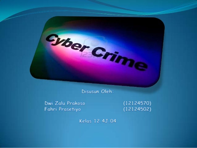 Power Point Cyber crime