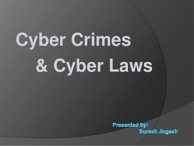 Cyber crime types & laws
