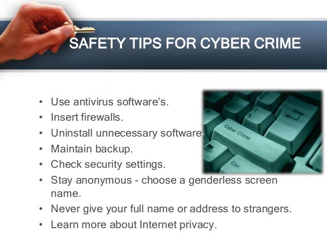 Security Safety Tips Safety Tips For Cyber Crime