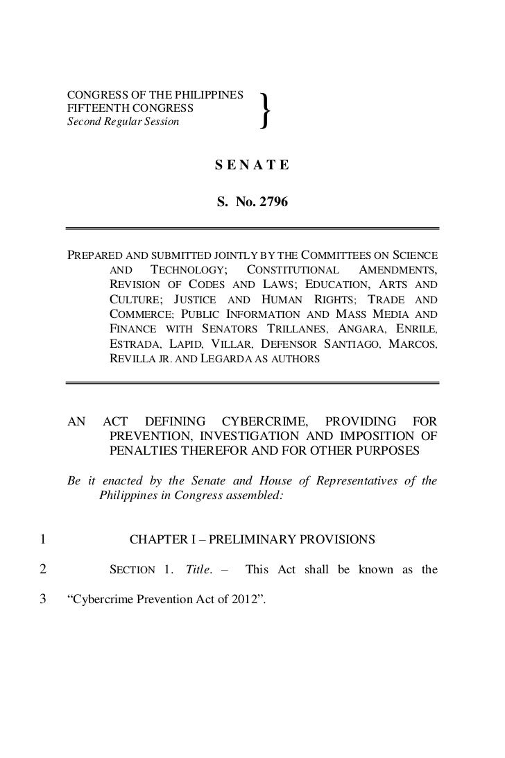 Cyber Crime Prevention Act 2012