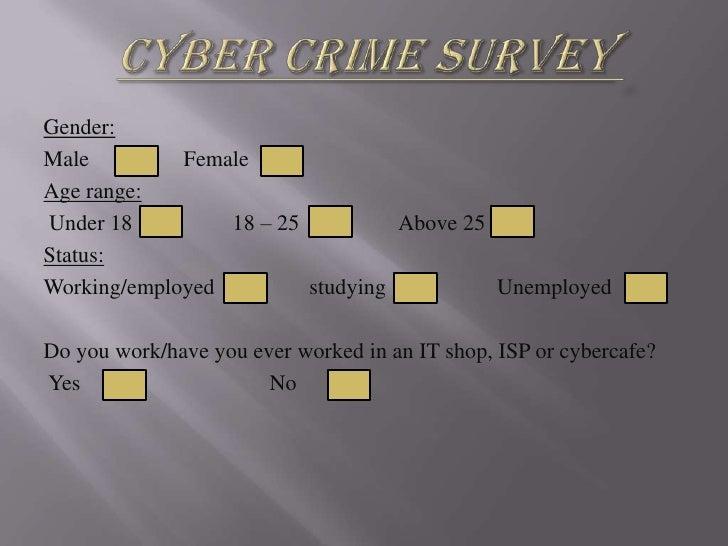 Cyber Crime Survey Presentation