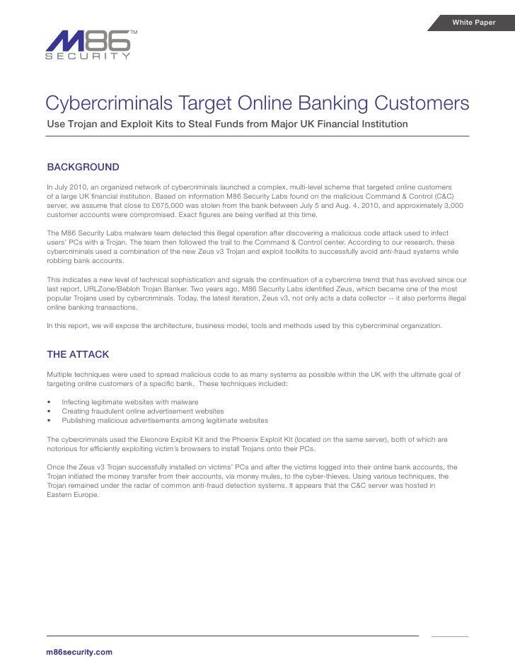 Cybercriminals target online banking