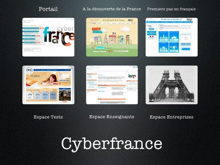 Cyberfrance Premiers pas en français A la découverte de la France Portail Espace Tests Espace Enseignants Espace Entreprises