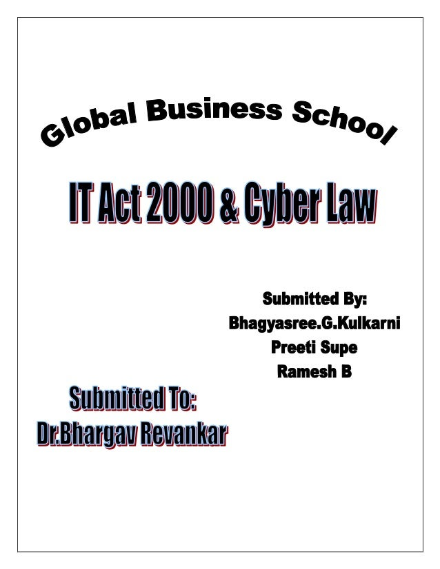 information technology act 2000 cyber law pdf