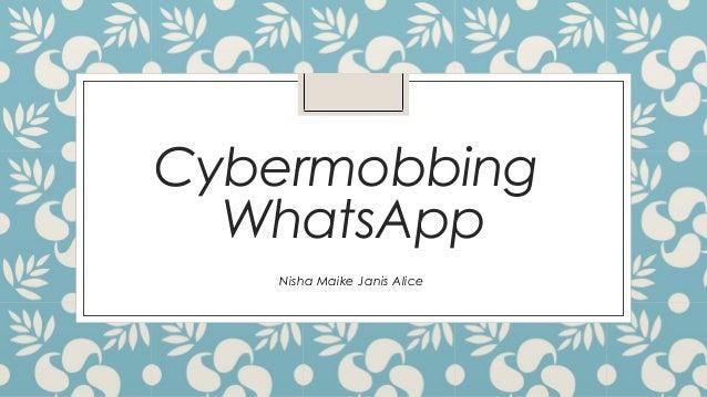 Cybermobbing WhatsApp Nisha Maike Janis Alice