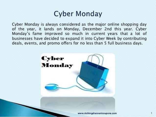 Cyber Monday is always considered as the major online shopping day of the year, it lands on Monday, December 2nd this year...