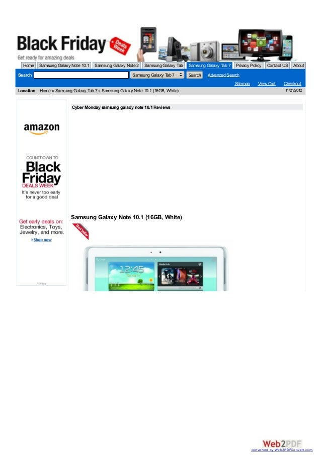 Cyber Monday samsung galaxy note 10.1 Reviews