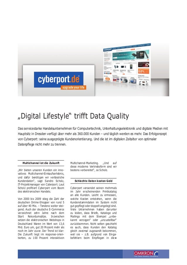 """Digital Lifestyle"" trifft Data Quality."