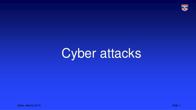 Cybersecurity 2 cyber attacks
