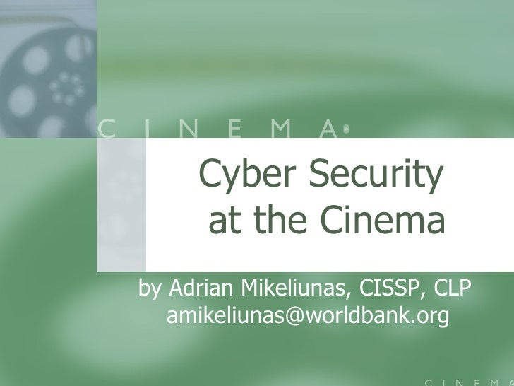Cyber Security At The Cinema