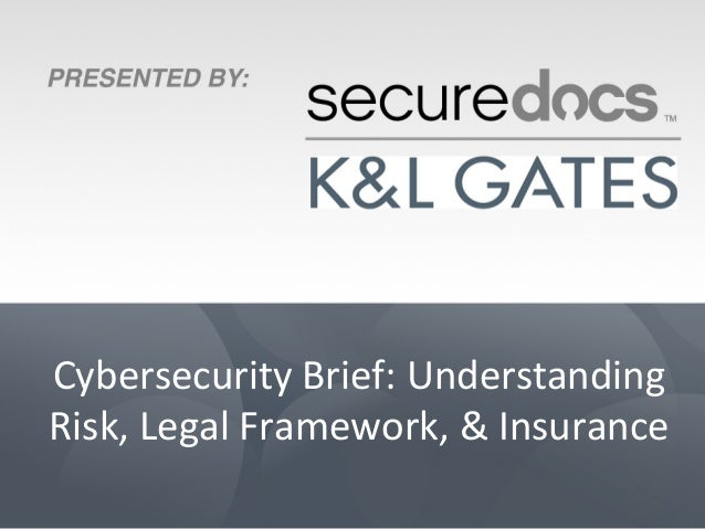 Cybersecurity Brief: Understanding Risk, Legal Framework, & Insurance