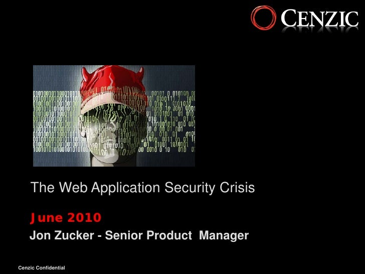 The Web Application Security Crisis