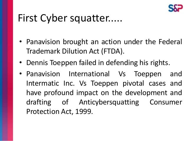 Legal Position of Cybersquatting in India