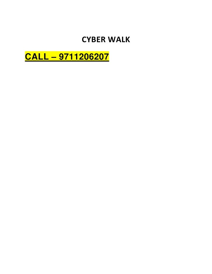 Cyber Walk Gurgaon Call @ 9711206207 IT Project Aarone Group Manesar