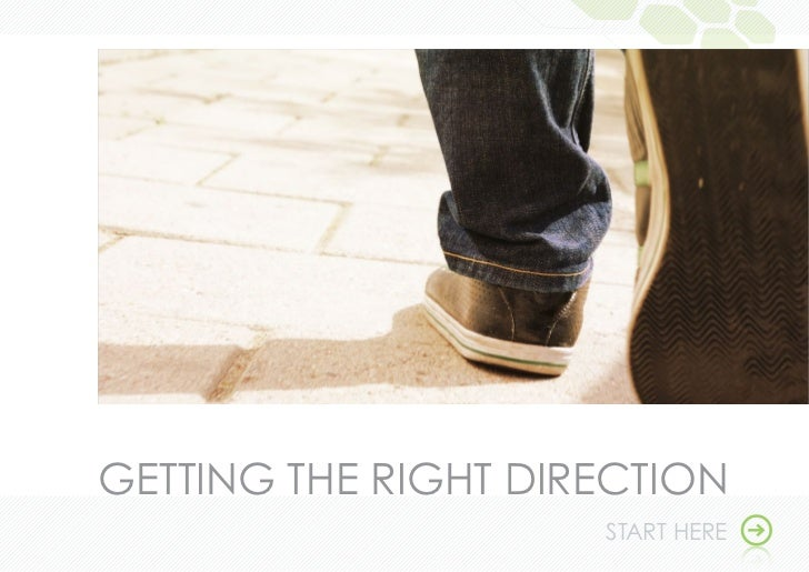 GeTTinG THe RiGHT diRecTion                     START HeRe