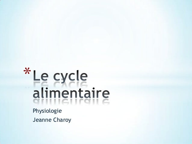 * Physiologie Jeanne Charoy