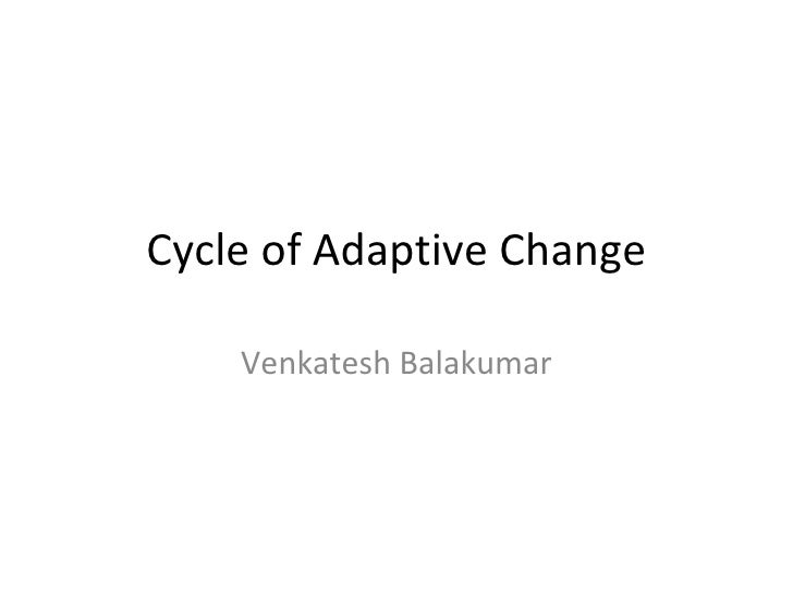 Cycle of Adaptive Change Venkatesh Balakumar