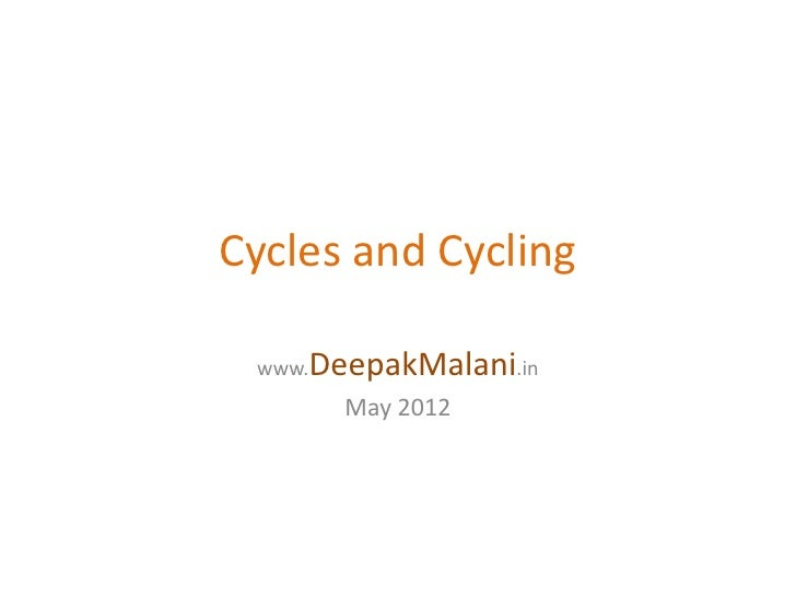 Cycles and Cycling