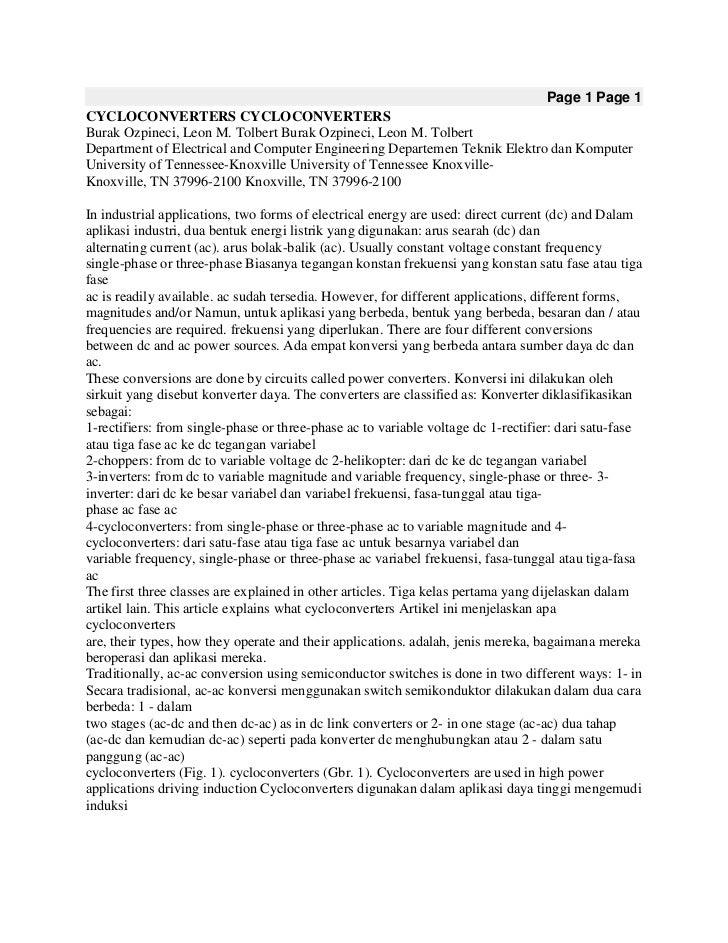 Page 1 Page 1CYCLOCONVERTERS CYCLOCONVERTERSBurak Ozpineci, Leon M. Tolbert Burak Ozpineci, Leon M. TolbertDepartment of E...