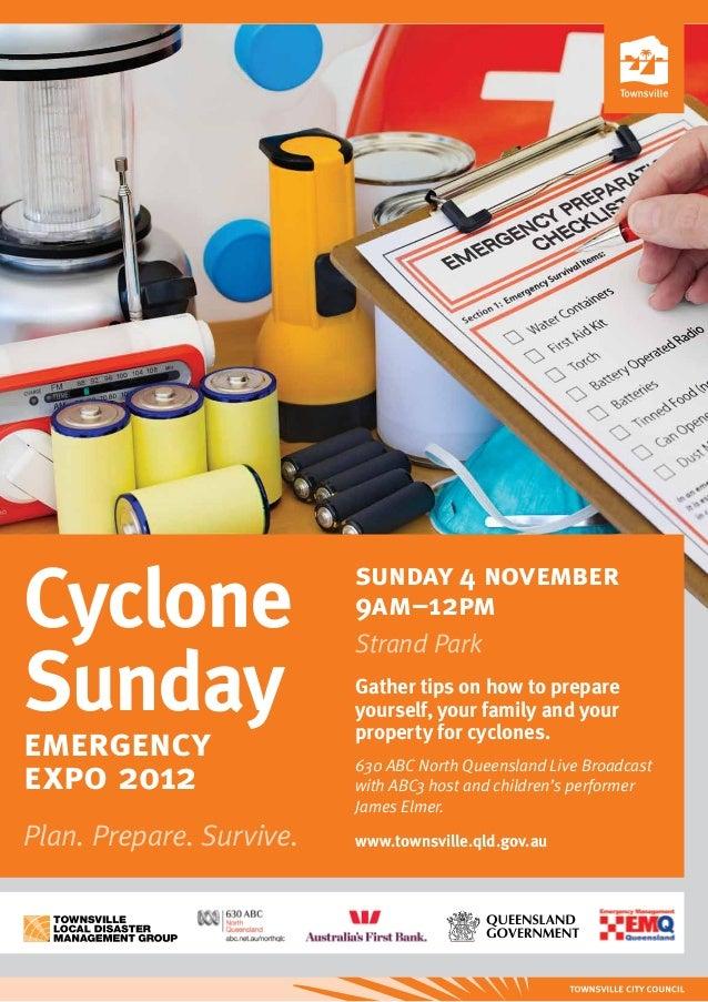 Cyclone                   sunday 4 november                          9am–12pm                          Strand ParkSunday  ...
