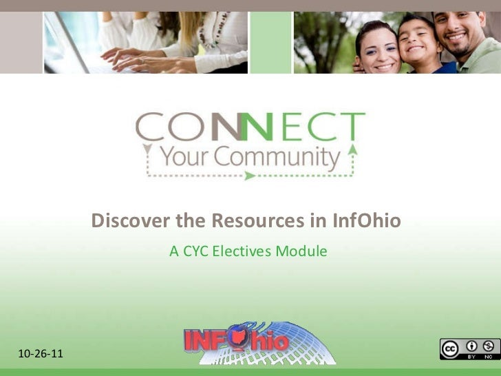 Discover the Resources in InfOhio A CYC Electives Module  10-26-11
