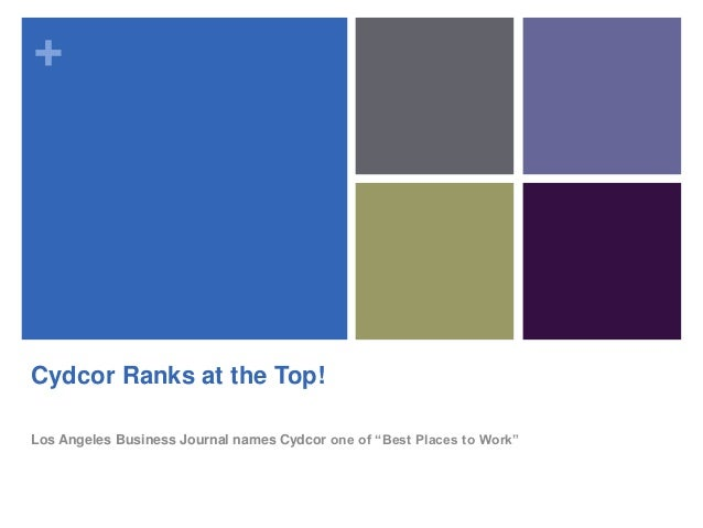 """+ Cydcor Ranks at the Top! Los Angeles Business Journal names Cydcor one of """"Best Places to Work"""""""