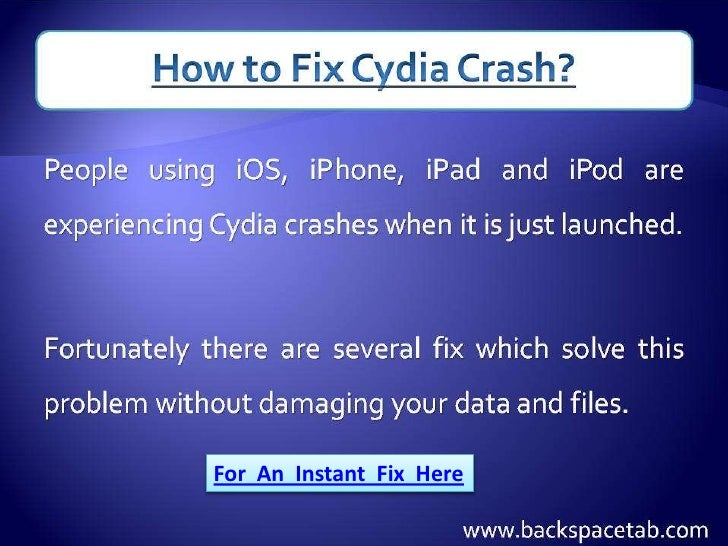 How to Fix Cydia Crash