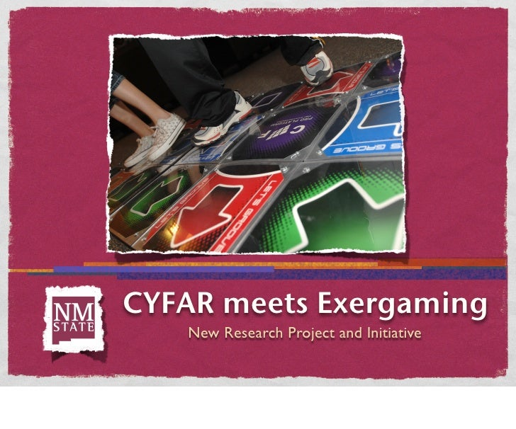 CYFAR meets Exergaming    New Research Project and Initiative