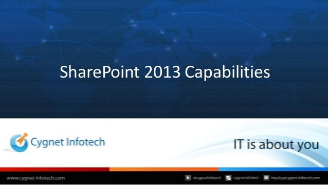 Cygnet Infotech's SharePoint 2013 Capabilities