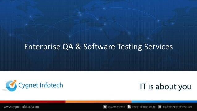 Enterprise QA & Software Testing Services