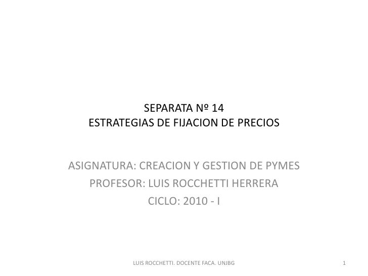 Cygp.sesion 14. estrategias de fijacion de precios