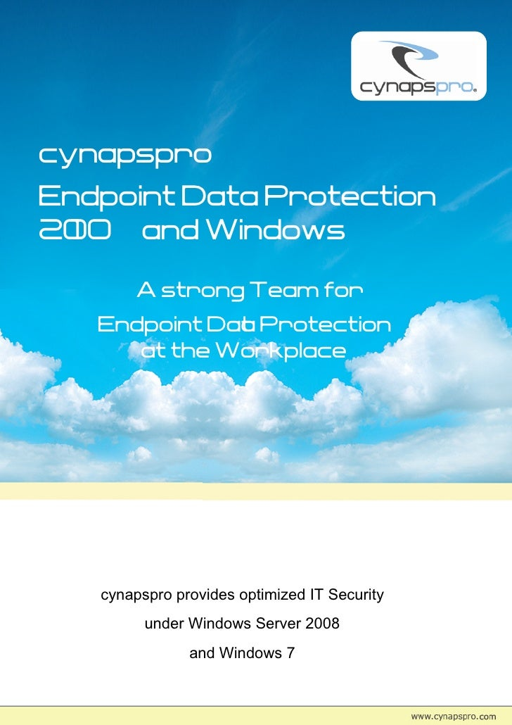 cynapspro endpoint data protection 2010 and windows security
