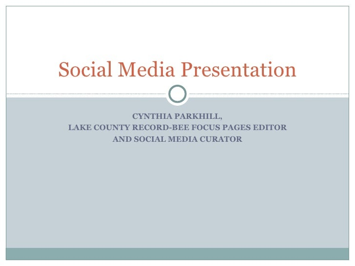 Social Media: Lake County Publishing