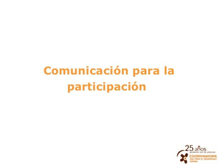 Comunicación para la participación