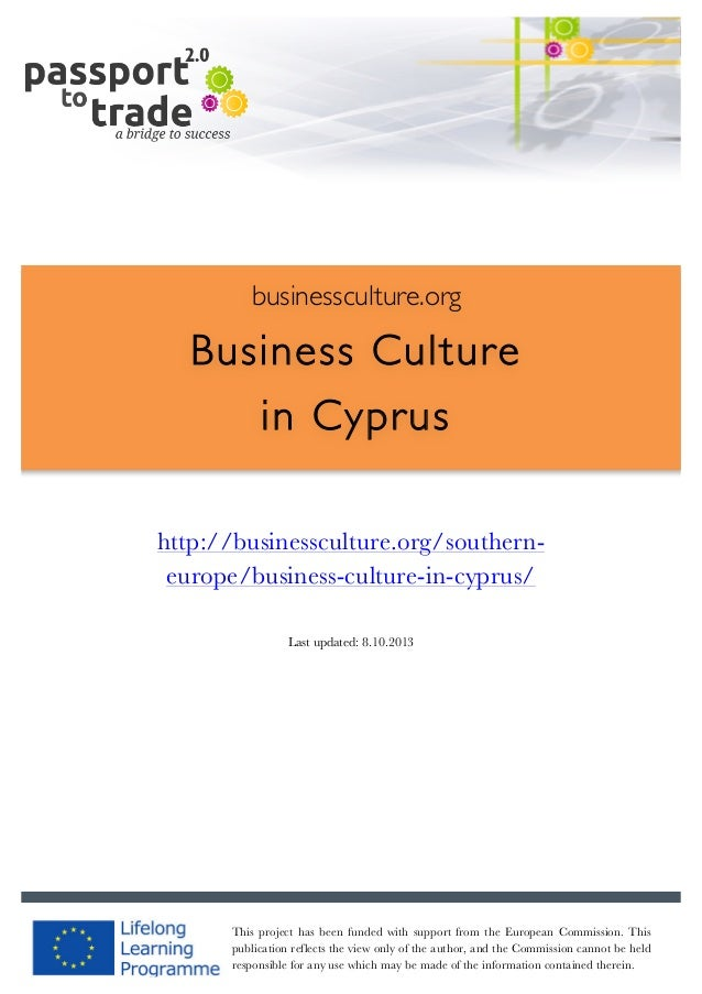 Cypriot business culture guide - Learn about Cyprus