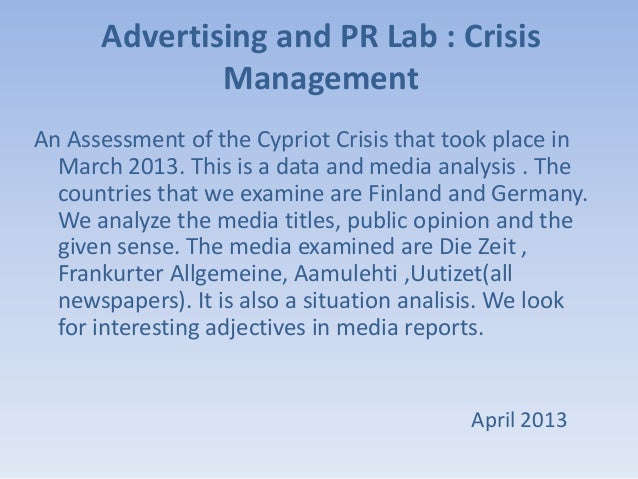 Cypriot Crisis Assessment by 4bidden