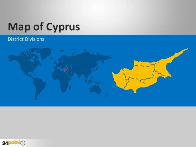 Cyprus Map - Custom-drawn PowerPoint Slides
