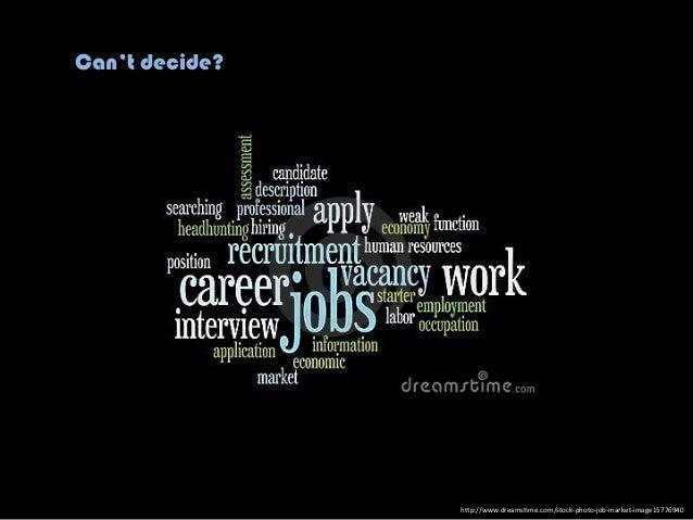 "h""p://www.dreams.me.com/stock-‐photo-‐job-‐market-‐image15776940 Can't decide?"