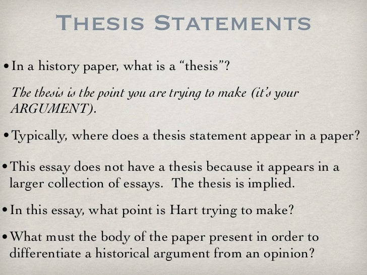 Write my history thesis examples