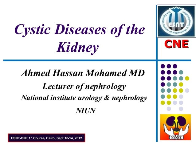 Cystic Diseases of the        Kidney                                  CNE      Ahmed Hassan Mohamed MD                   L...