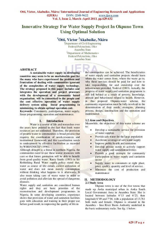 Otti, Victor, Akabuike, Nkiru / International Journal of Engineering Research and Applications                    (IJERA) ...