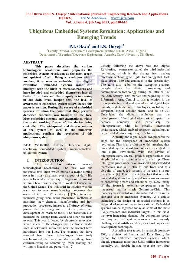 P.I. Okwu and I.N. Onyeje / International Journal of Engineering Research and Applications (IJERA) ISSN: 2248-9622 www.ije...