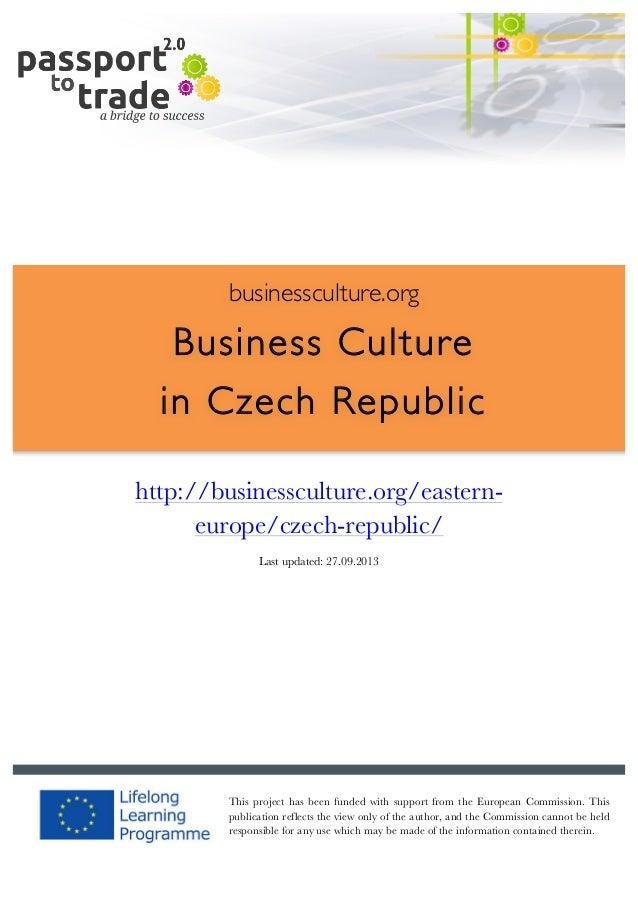 Czech business culture guide - Learn about the Czech Republic